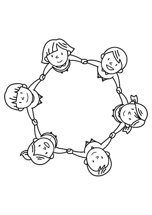 Coloriage groupe d 39 enfants img 30245 - Dessin groupe d enfants ...