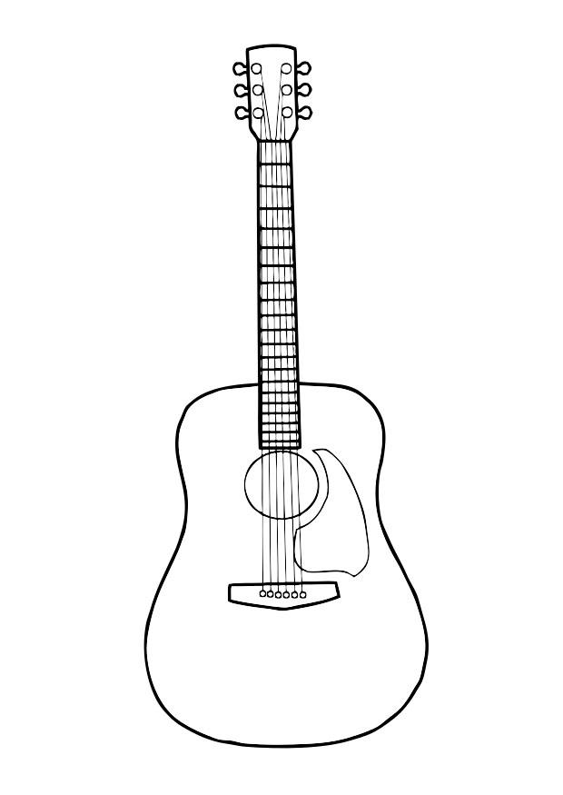 Coloriage Guitare Img 29718