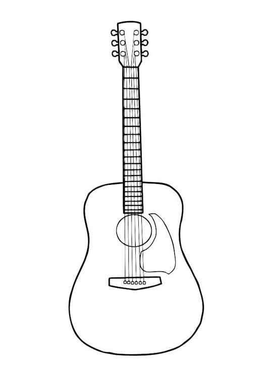 Coloriage Guitare Coloriages Gratuits à Imprimer Dessin 29718