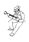 Coloriage guitariste