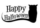 Coloriage happy Halloween