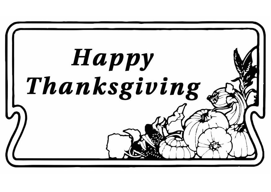 Coloriage Happy Thanksgiving