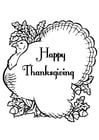 Coloriages Happy Thanksgiving