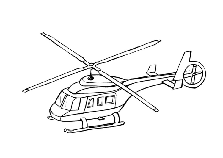 Coloriage helicoptère