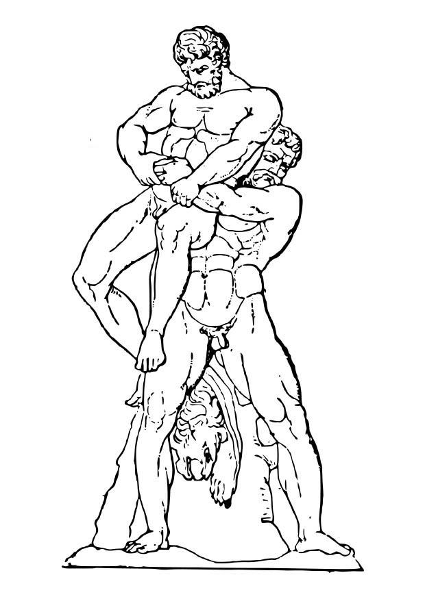 Coloriage H 233 Racl 232 S Et Ant 233 E Img 18602