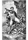 Coloriage Hercule et le serpent
