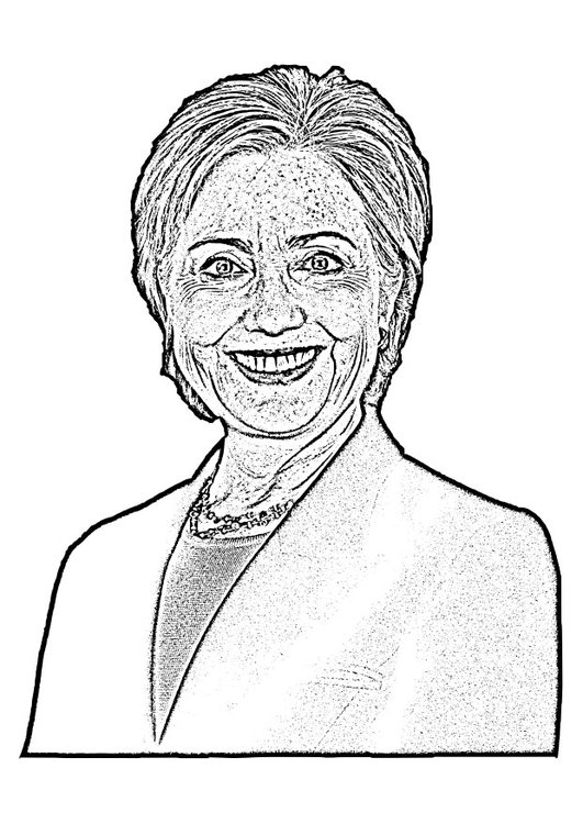 Coloriage Hillary Clinton