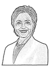 Coloriages Hillary Clinton