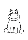 Coloriages Hippopotame