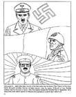 Coloriage Hitler, Mussolini, Hirohito