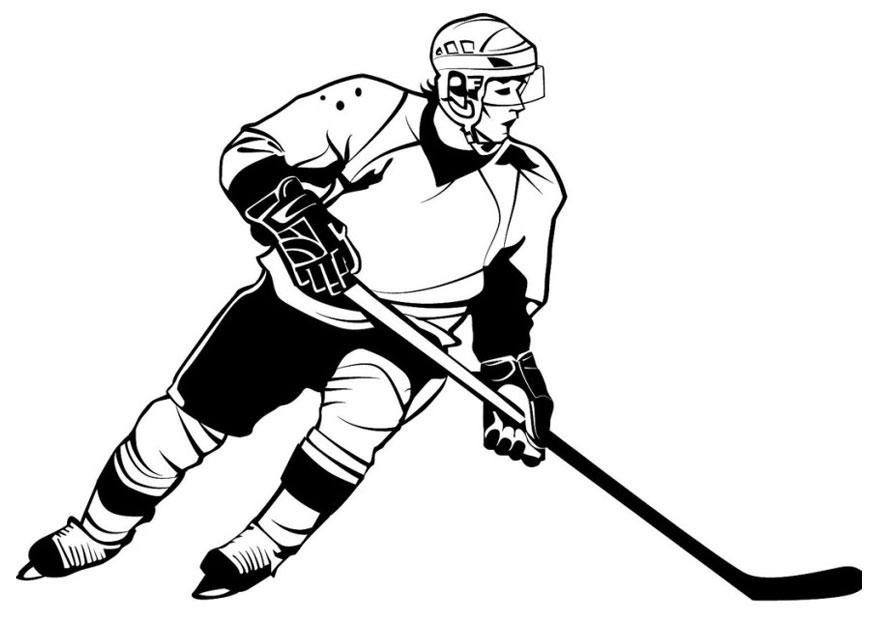 coloriage hockey sur glace