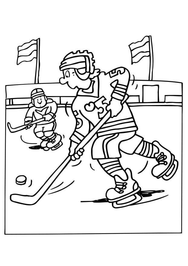 Patinoire de hockey en dessins - Dessin patinoire ...
