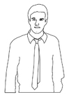 Coloriage homme avec cravate