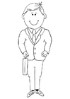 Coloriage homme d'affaires