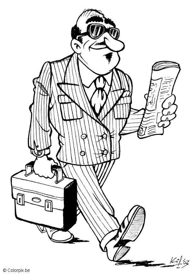 Coloriage homme d'affaires - img