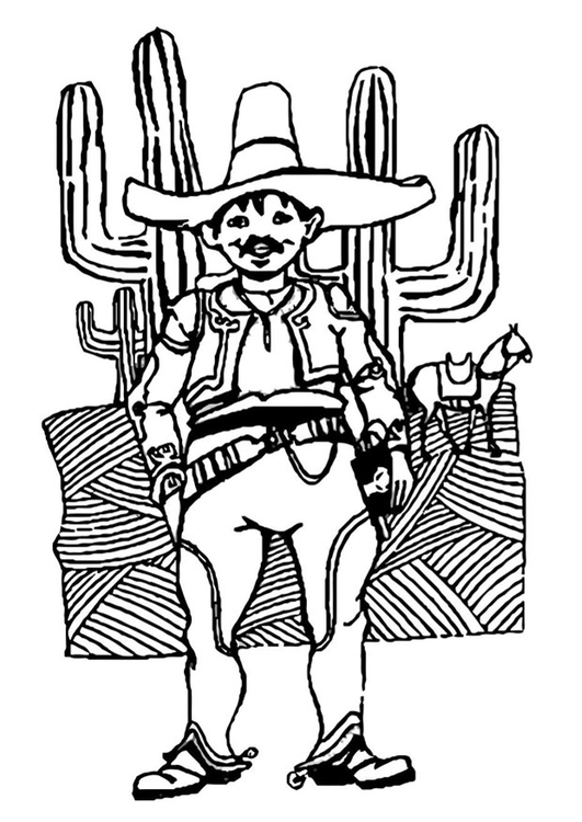 Coloriage homme du mexique img 22757 - Dessin du mexique ...