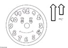 Coloriages horloge