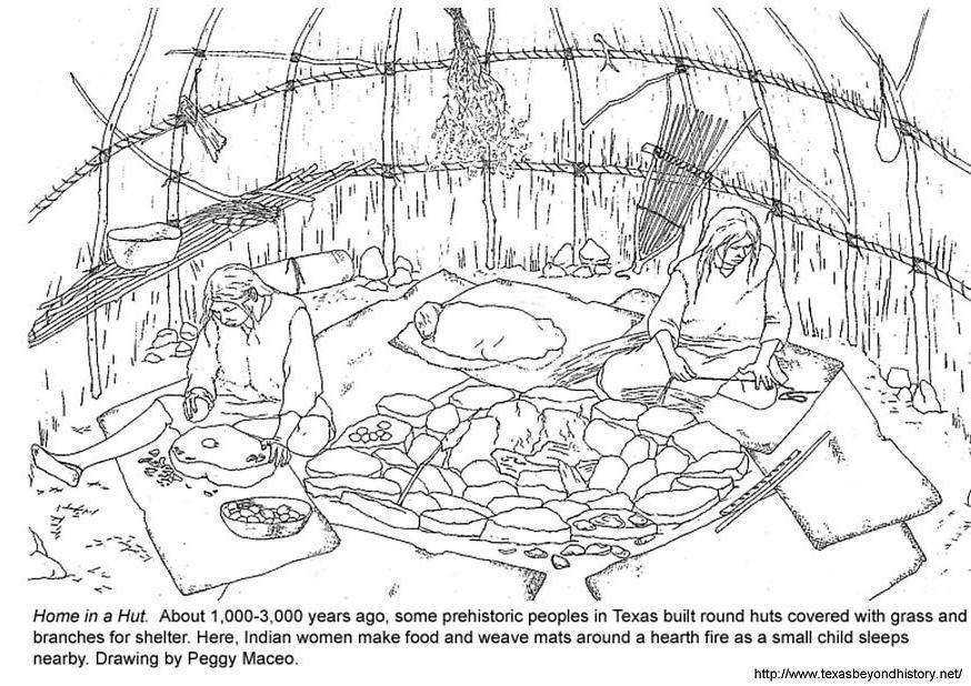 Coloriage hutte img 3974 - Coloriage grotte ...