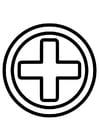 Coloriage icône de premiers soins