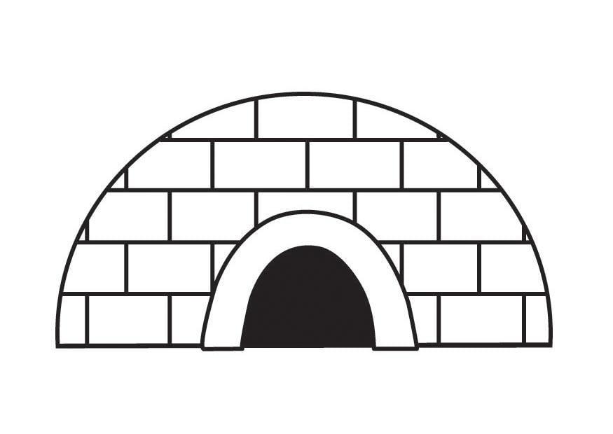 Coloriage igloo img 23138 - Coloriage igloo ...