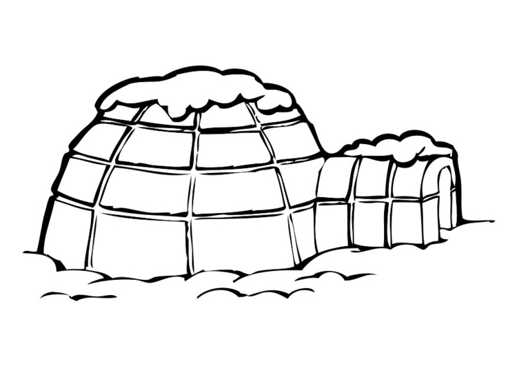 Coloriage igloo img 17407 - Coloriage igloo ...