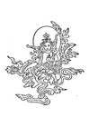 Coloriage image bouddhiste