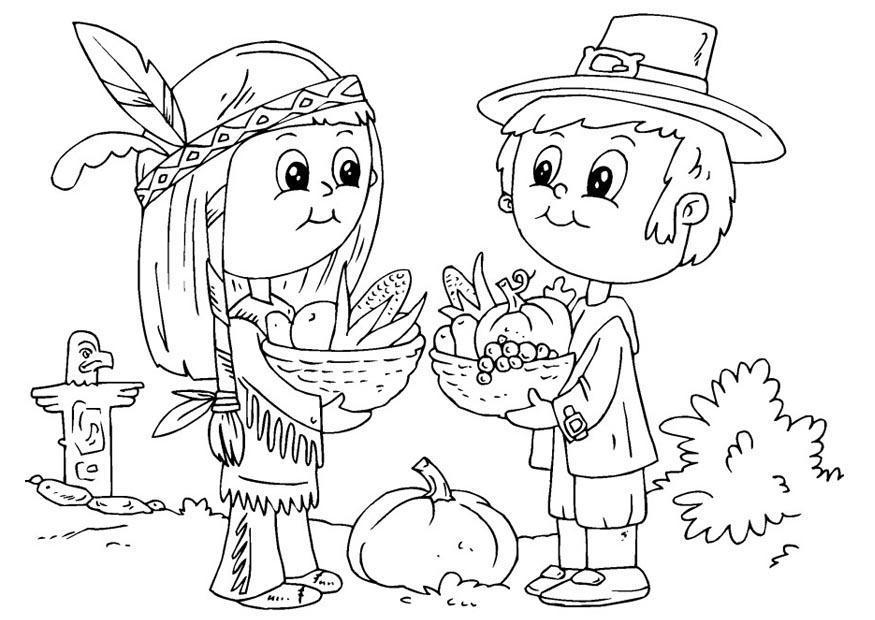Coloriage indien et p lerin img 22910 - Fogli da colorare nativo americano ...