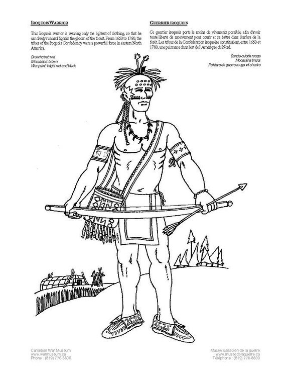 Coloriage Indien Iroquois Img 4229 Images