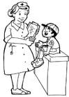 Coloriage infirmière