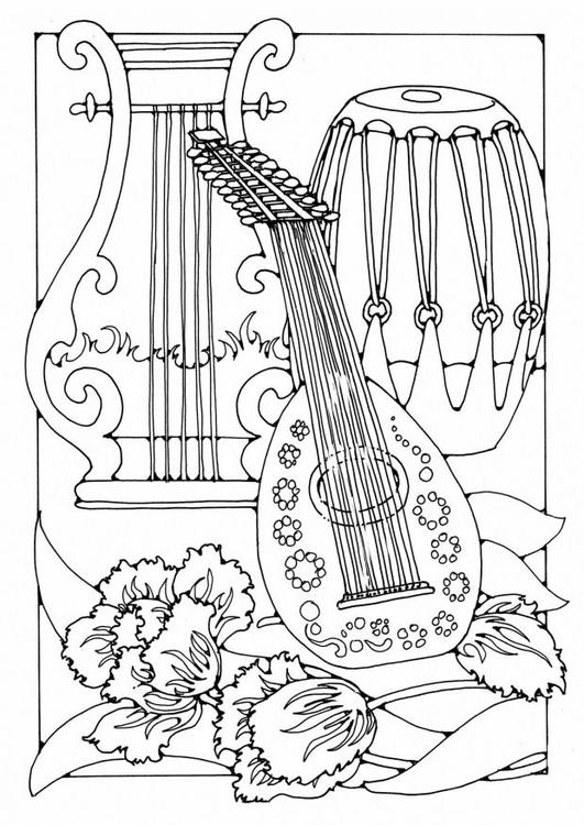 Coloriage instrument de musique img 19588 - Musique coloriage ...