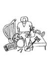 Coloriage instruments