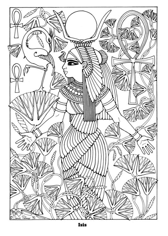 Coloriage Isis img 16352