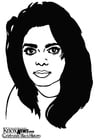 Coloriage Janet Jackson