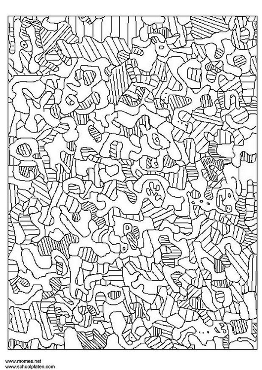 Coloriage Jean Dubuffet