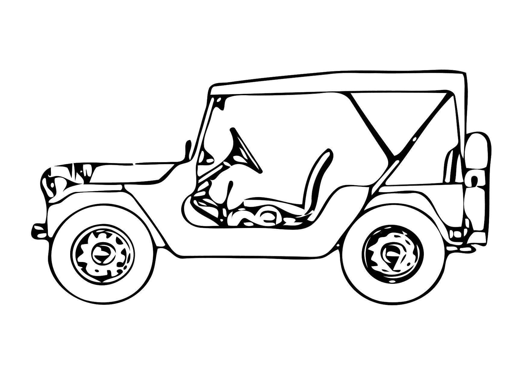 Kleurplaten Legerjeep.Kleurplaat Legerjeep Coloriage Jeep Img 11327 Kleurplatenl Com