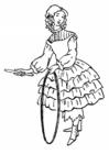 Coloriage jeune fille avec cerceau