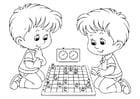 Coloriage jeux d'échecs