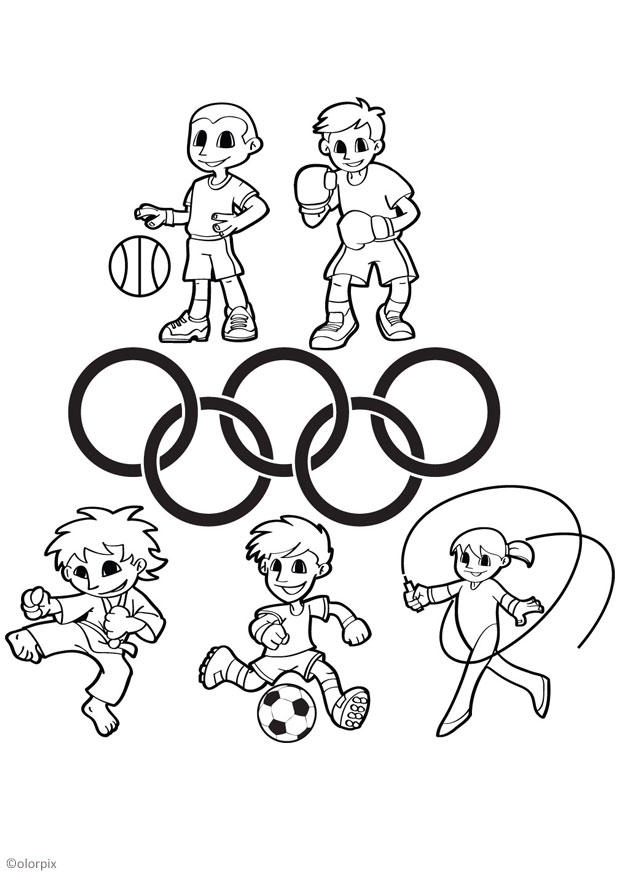 Coloriage jeux olympiques - img 26044