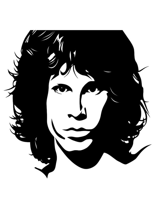 Coloriage Jim Morrison