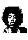 Coloriage Jimi Hendrix