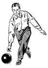Coloriage jouer au bowling