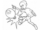Coloriage jouer au foot