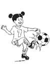 Coloriage jouer au football