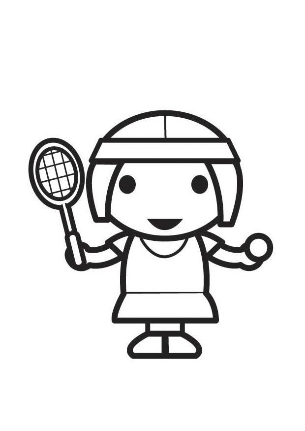 Coloriage Joueuse De Tennis Coloriages Gratuits 224 Imprimer