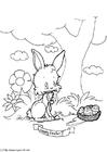 Coloriage joyeuses Pâques