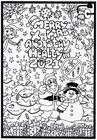 Coloriage joyeux Noël