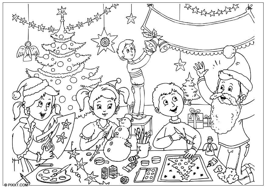 Coloriage joyeux no l img 28186 - Dibujos de nacimientos de navidad ...