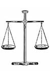 Coloriage juge - balance de la justice