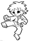 Coloriage karate
