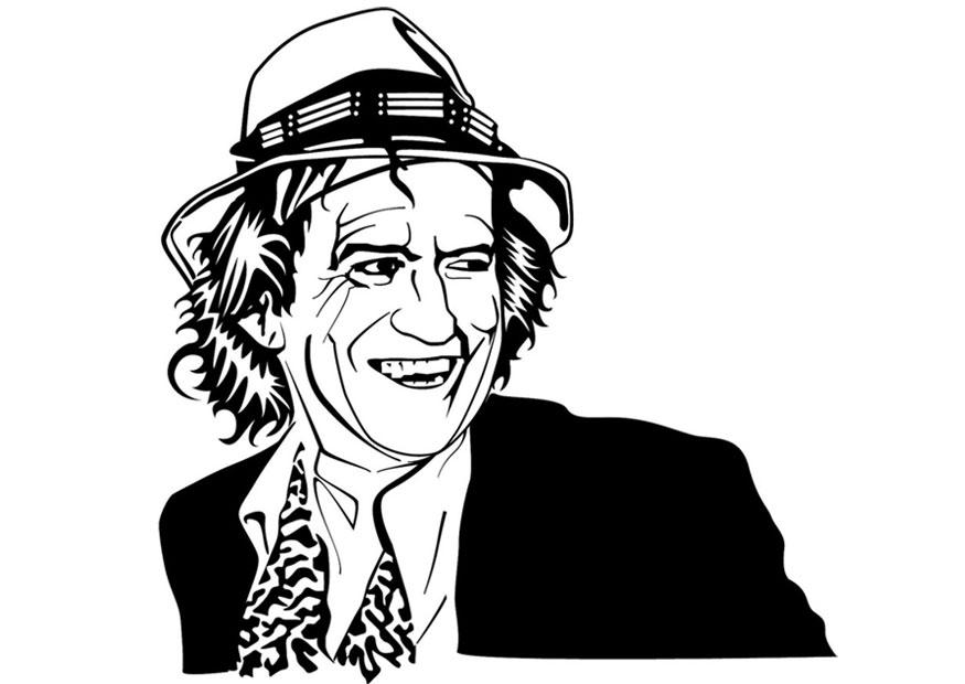 Coloriage Keith Richards - Coloriages Gratuits à Imprimer